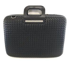 "BOMBATA black NWT Weaved Laptop Carry Case 15"""
